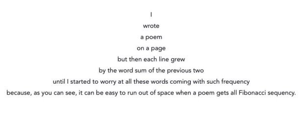 Wunderbares Fibonacci-Folge-Gedicht