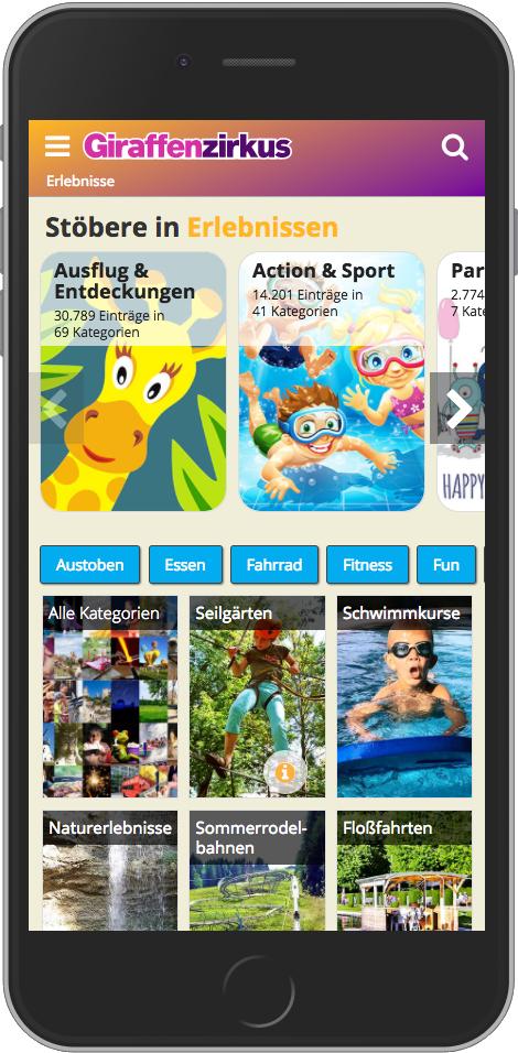 Giraffenzirkus: Mobile App