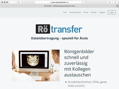 Rö-Transfer: Dateiübertragung für Ärzte