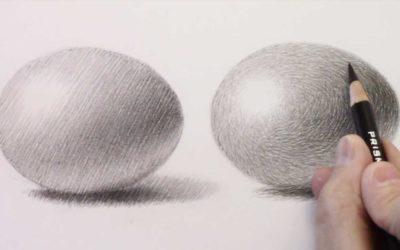 Zeichenkurs: 3 Arten mit dem Bleistift Schattierungen zu malen